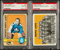 Hockey Cards:Lots, 1965 and 1972 Topps Hockey High Grade PSA Pair (2). ...