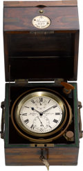 Timepieces:Other , George Muston London & Bristol Two Day Marine Chronometer, No. 610. ...