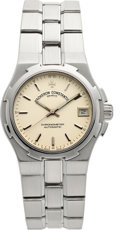 "Timepieces:Wristwatch, Vacheron Constantin Gent's Steel Automatic ""Overseas"" Chronometer...."