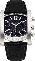 "Timepieces:Wristwatch, Bvlgari Steel ""Assioma"" Automatic Chronograph. ..."
