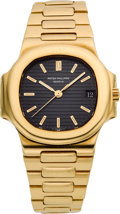 Timepieces:Wristwatch, Patek Philippe Ref. 3800/1 Self-Winding Gent's Gold Nautilus, circa 1980's. ...