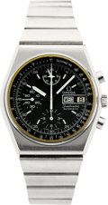 Timepieces:Wristwatch, Omega 176.0015 Steel Automatic Speedmaster Chronograph, circa1970's. ...
