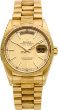 Timepieces:Wristwatch, Rolex Ref. 18078 Gent's Gold President With Box & Papers, circa 1987. ...