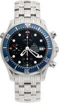 Timepieces:Wristwatch, Omega Automatic Seamaster Professional Chronograph. ...
