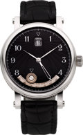 Timepieces:Wristwatch, Martin Braun Steel Zephyros Equation of Time, Season Indicator& Date. ...