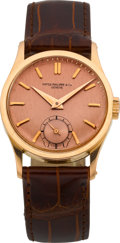 Timepieces:Wristwatch, Patek Philippe Ref. 96 Rose Gold Calatrava, circa 1948. ...