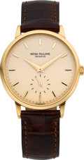 Timepieces:Wristwatch, Patek Philippe Ref. 3893 Fine Gent's Gold Wristwatch, circa 1975. ...