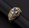 Estate Jewelry:Rings, Exceptional Diamond & Sapphire Ring. ...