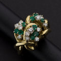 Estate Jewelry:Rings, Exceptional Emerald & Diamond Ring. ...
