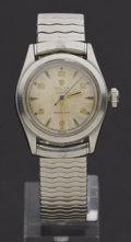 Timepieces:Wristwatch, Rolex Oyster Speedking 3/4 Size Steel Manual Wristwatch. ...