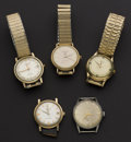 Timepieces:Wristwatch, Five Automatic Running Wristwatches. ... (Total: 5 Items)