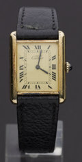 Timepieces:Wristwatch, Cartier Manual Wind Wristwatch. ...