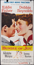 "Movie Posters:Comedy, Bundle of Joy (RKO, 1957). Three Sheet (41"" X 77"" after joining the two pieces.). Comedy.. ..."