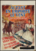 "Movie Posters:Academy Award Winners, Gone with the Wind (MGM, 1939). Pre-War Belgian (23.25"" X 33.25"").Academy Award Winners.. ..."
