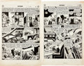 "Original Comic Art:Panel Pages, Jim Mooney and Ray Burnley (attributed) Batman #56 ""A Greater Detective Than Batman"" Page Original Art Group (DC, ... (Total: 7 Items)"