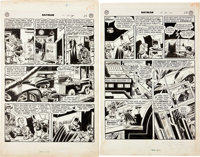 "Jim Mooney and Ray Burnley (attributed) Batman #56 ""A Greater Detective Than Batman"" Page Original Art Group (..."