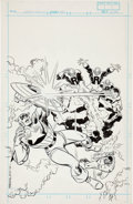 Original Comic Art:Covers, Ron Frenz and John Romita Sr. Captain America #343 Cover Original Art (Marvel, 2001)....