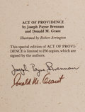Books:Horror & Supernatural, Joseph Payne Brennan and Donald M. Grant. SIGNED/LIMITED. Act of Providence. West Kingston: Grant, [1979]. First edi...