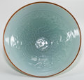 Asian:Chinese, CHINESE CELADON PORCELAIN BOWL . Qing Dynasty. 7-3/4 inchesdiameter (19.7 cm). ...