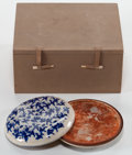 Asian:Chinese, CHINESE PORCELAIN ONE HUNDRED BOYS PAINT BOX . Qing Dynasty. Marks: (chop mark). 5-3/8 inches diameter (13.5 cm...