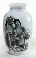 Asian:Chinese, CHINESE PORCELAIN PROPAGANDA VASE . Mid 20th century. Marks:(character mark). 12-3/8 inches high (31.3 cm). BOSS STAR COL...