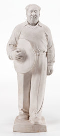Asian:Chinese, CHINESE PORCELAIN FIGURE: CHAIRMAN MAO . Mid 20th century .13 inches high (33.0 cm). BOSS STAR COLLECTION...