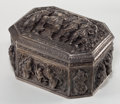 Silver Holloware, Continental:Holloware, BURMESE SILVER FIGURAL BOX AND COVER . Circa 1900. 9-1/2 incheslong x 7 inches wide (24.1 x 17.8 cm). 63.44 troy ounces. ...(Total: 2 Items)