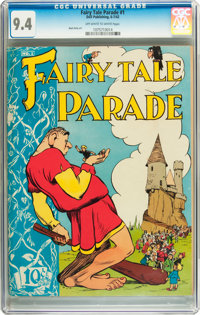 Fairy Tale Parade #1 (Dell, 1942) CGC NM 9.4 Off-white to white pages