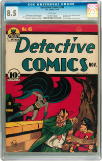 Detective Comics #45 (DC, 1940) CGC VF+ 8.5 White pages