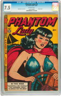 Golden Age (1938-1955):Crime, Phantom Lady #14 (Fox Features Syndicate, 1947) CGC VF- 7.5 Off-white pages....