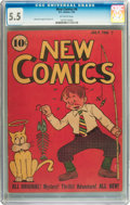 Golden Age (1938-1955):Cartoon Character, New Comics #6 (DC, 1936) CGC FN- 5.5 Off-white pages....
