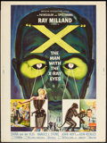 "Movie Posters:Science Fiction, X - The Man with the X-Ray Eyes (American International, 1963).Poster (30"" X 40""). Science Fiction.. ..."