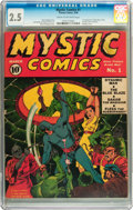 Golden Age (1938-1955):Superhero, Mystic Comics #1 (Timely, 1940) CGC GD+ 2.5 Cream to off-white pages....