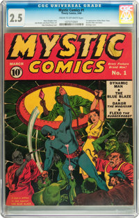 Mystic Comics #1 (Timely, 1940) CGC GD+ 2.5 Cream to off-white pages
