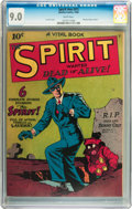 Golden Age (1938-1955):Crime, The Spirit #nn (#1) (Quality, 1944) CGC VF/NM 9.0 White pages....