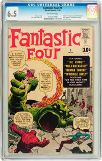 Fantastic Four #1 (Marvel, 1961) CGC FN+ 6.5 Off-white pages