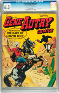 Golden Age (1938-1955):Western, Gene Autry Comics #1 (Fawcett, 1942) CGC FN+ 6.5 Off-white to whitepages....