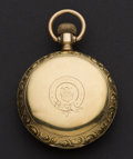 Timepieces:Pocket (post 1900), Waltham 23 Jewel 10k Gold Swiss Hunter's 18 Size Case Pocket Watch. ...