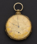 Timepieces:Pocket (pre 1900) , Francis DuBois & Co. 18k Gold Lever Fusee Key Wind PocketWatch. ...
