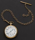 Timepieces:Pocket (post 1900), Elgin 21 Jewel B.W. Raymond Pocket Watch With Chain. ...