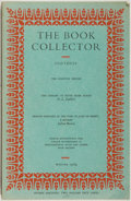 Books:Books about Books, [Book Collecting]. The Book Collector Volume 18 No. 4 Winter 1969. London: The Collector Ltd., 1969. Octavo. Thi...