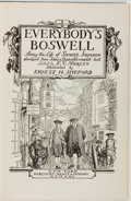 Books:Biography & Memoir, James Boswell, edited by F. V. Morley. Everybody's Boswell.Being the Life of Samuel Johnson Abridged From James Boswell...