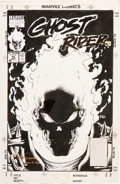 Original Comic Art:Covers, Mark Texeira Ghost Rider #15 Cover Original Art (Marvel,1991)....