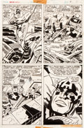 Original Comic Art:Panel Pages, Jack Kirby and Frank Giacoia Captain America #200 Page 3Original Art (Marvel, 1976)....