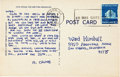 Original Comic Art:Miscellaneous, Robert Crumb Hand-Lettered Postcard to Ward Kimball (1975)....