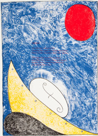 WILLIAM T. WILEY (American, 1937) Deneb, 1996 Lithograph in colors Image: 24-1/4 x 18 inches (61