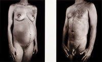 CHUCK CLOSE (American, b. 1940) Untitled (two nudes), 2001 Photographs, digital print 22 x 29-1/4