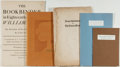 Books:Fine Press & Book Arts, [Small Press Editions]. Lot of Five Small Press Publicationsincluding: Various authors. Some Diverse Observations R...(Total: 5 Items)