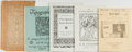 Books:Books about Books, [Rare Books]. Lot of Five Vintage Rare Book Catalogs including: The Bookbinders' Guild of California, San Francisco, 190... (Total: 5 Items)