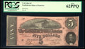 Confederate Notes:1864 Issues, T69 $5 1864.. ...